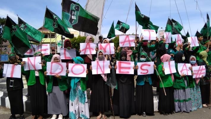 demo HMI selamatkan indonesia