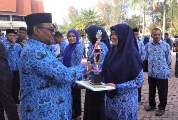 Upacara-HUT-Korpri-di-Aceh-Utara-Diwarnai-Bagi-bagi-Hadiah