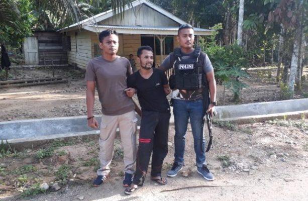 napi kabur ditangkap polisi
