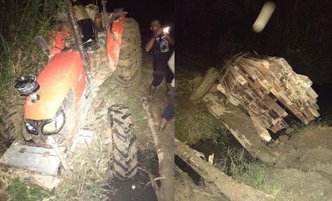 traktor ditangkap